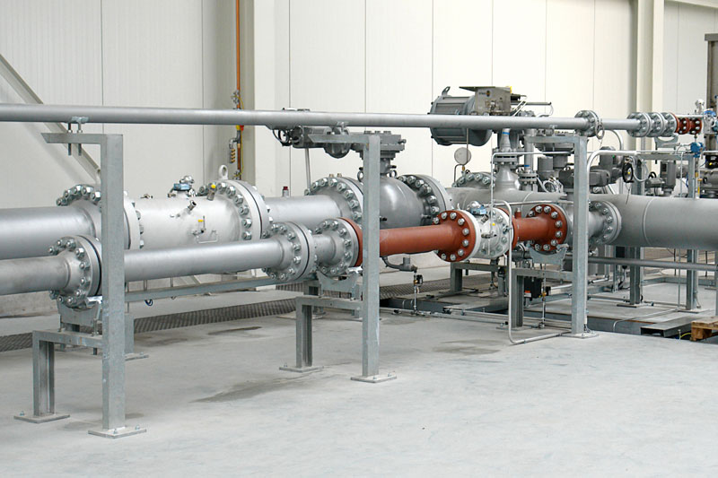 High Pressure Test Facility for gas measuring devices