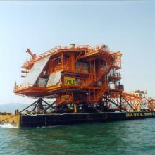 Emilio platform offshore transport